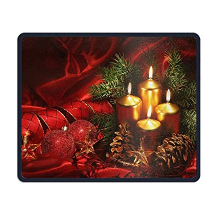 37094ded425c Amazon.com : Holiday Christmas Candle Pine Cone Ornaments Ribbon Red ...