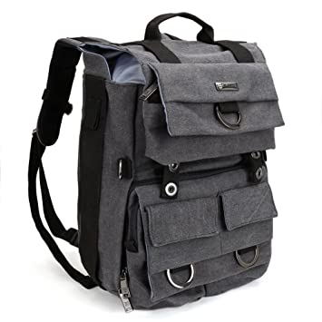 Amazon.com : Camera Backpack, Evecase Canvas DSLR Camera Travel ...