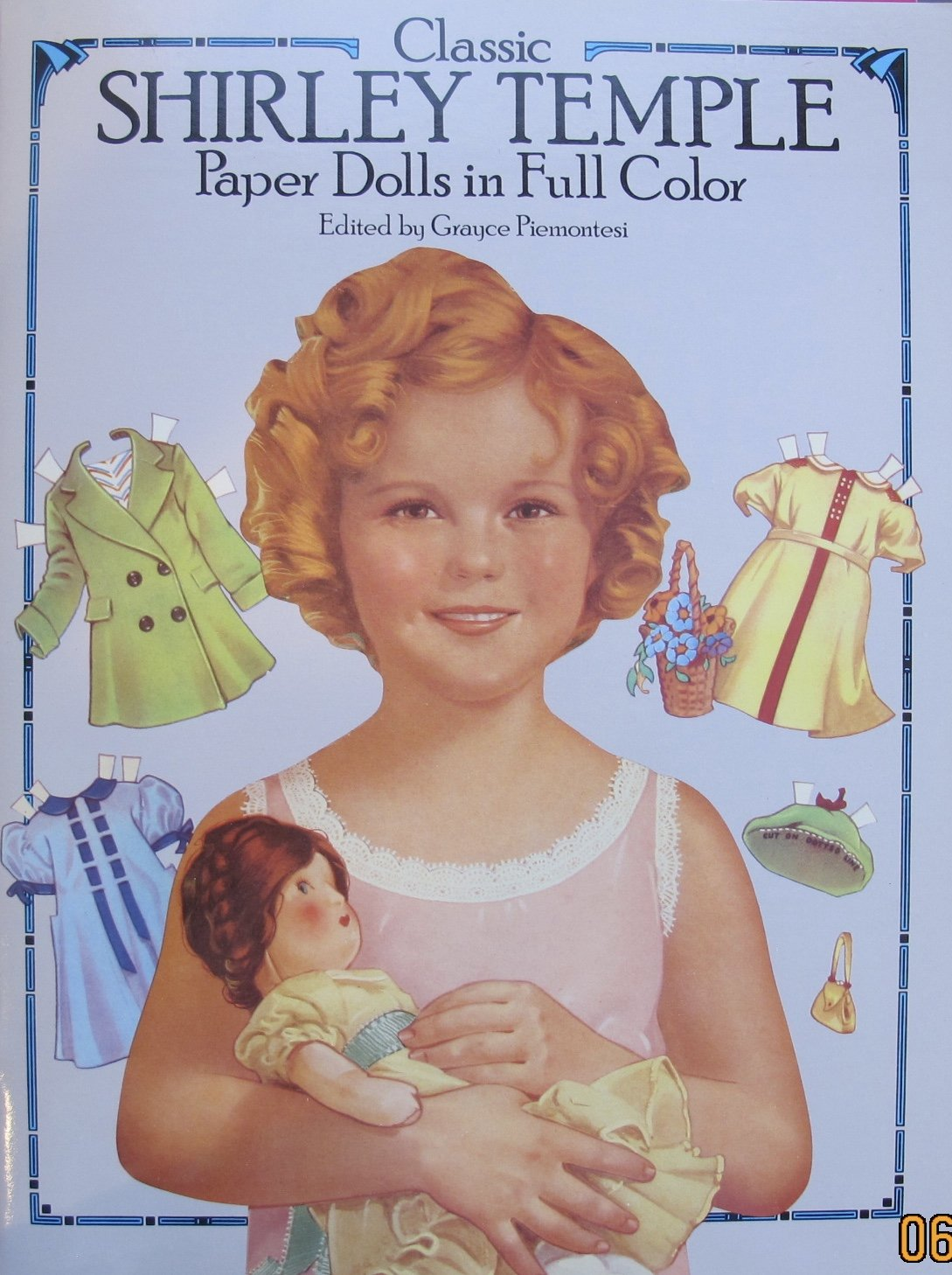 Classic SHIRLEY TEMPLE PAPER DOLLS in Full Color CUT OUT BOOK (UNCUT) w CARD STOCK 'Paper' DOLLS & ACCESSORIES (1986 Dover)