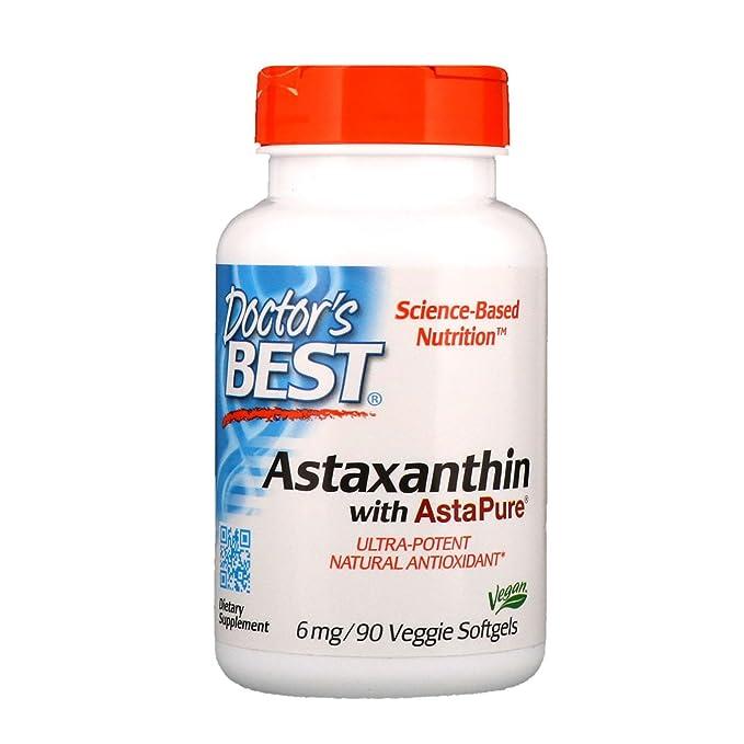 Mejor astaxantina 6, 6 mg, 90 cápsulas blandas - de mejor doctor: Amazon.es: Salud y cuidado personal