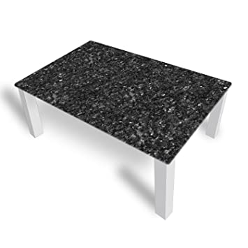 Couchtisch Von DekoGlas Granit Grau 45cm Hoch Tisch Mit Glasplatte 112x67cm Beistelltisch Glastisch Kaffeetisch Teetisch