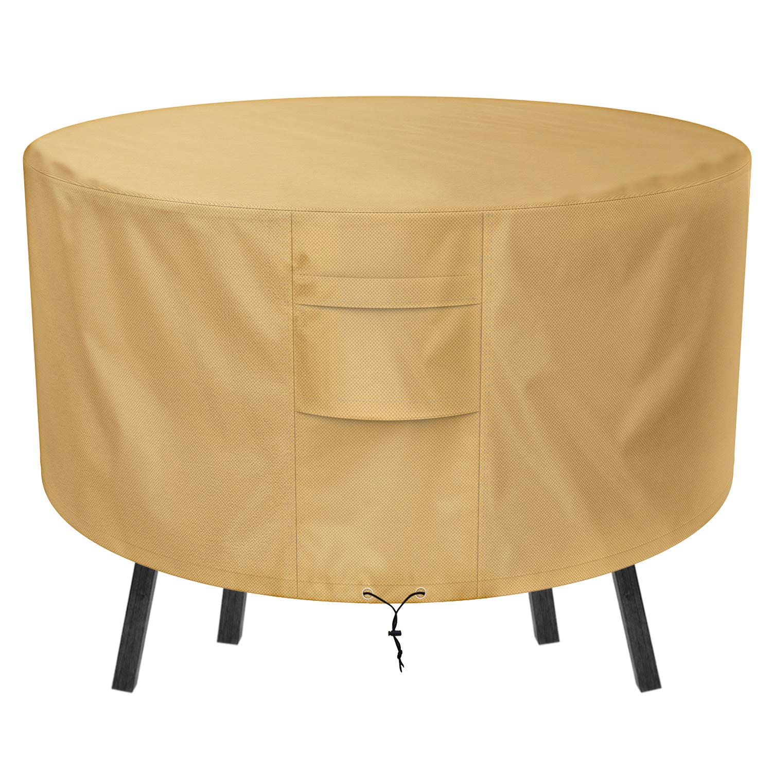 Sunkorto Patio Table Cover, 50 Inch Round Table Furniture Cover Waterproof & Wear-resistant for Outdoor by Sunkorto