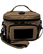 HSD Tactical Lunch Bag - Insulated Cooler, Lunch Box with MOLLE/PALS Webbing, Adjustable Padded Shoulder Strap, for Adults and Kids (Coyote Brown)