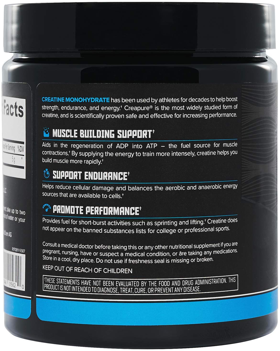 Onnit Micronized Creatine Monohydrate (Creapure) - 5g Per Serving - NSF Certified Creatine Powder - 30 Servings by ONNIT