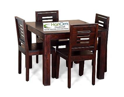Hariom Handicraft Sheesham Wood Wooden Dining Set 4 Seater fc1298703