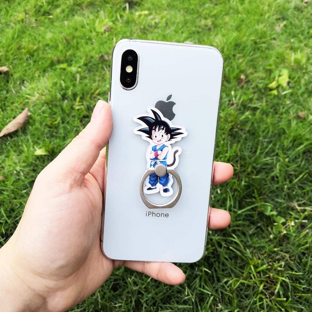 2pcs Goku TM 2 Pack Phone Ring Grip Dragon Ball Son Gohan Vegeta Universal 360/° Adjustable Holder Car Desk Hook Stand Stent Mount Kickstand Compatible with iPhone X Plus Samsung iPad Tablet ZOEAST