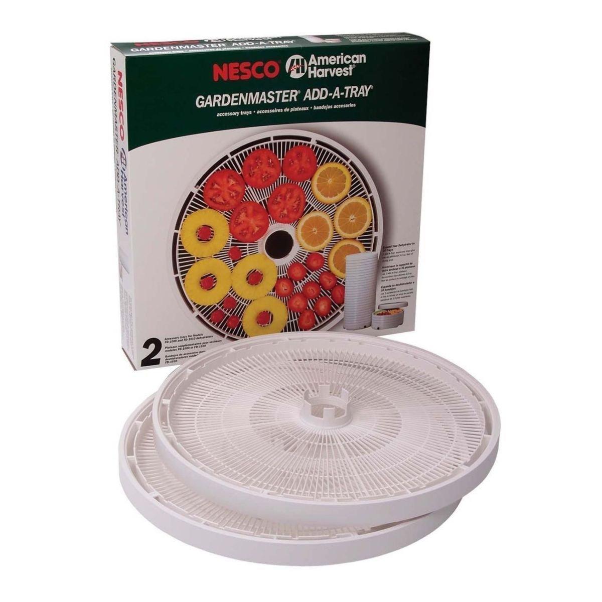 Nesco Tr-2 Gardenmaster Dehydrator Add-a-tray Accessory Trays 2 Pack