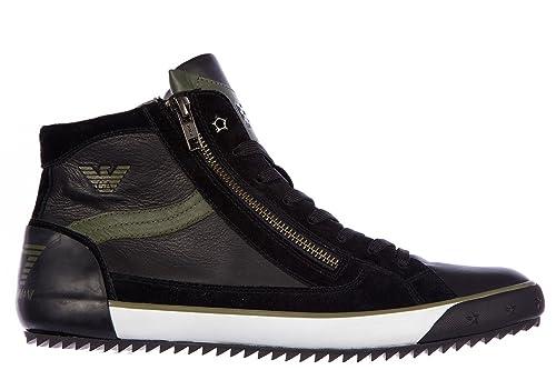 Pelle Ea7 Sneakers In Uomo Armani Vulky Scarpe Emporio Alte Nuove gfY7vb6yI