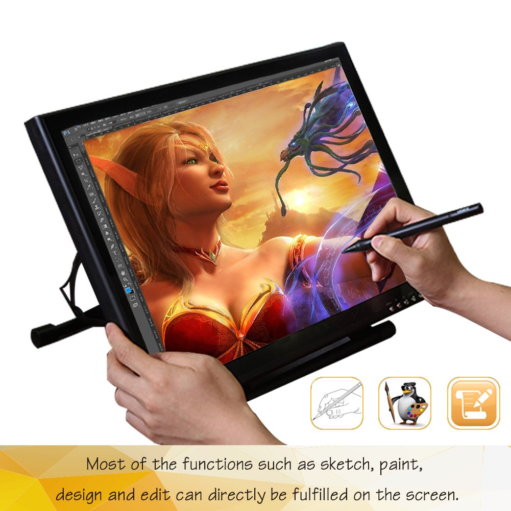 Ugee 1910B Interactive Pen Display Drawing Monitor Graphics Tablet 19 Inch LCD Screen with 2 Pens,1 Protector Film and 1 Glove by Ugee (Image #3)