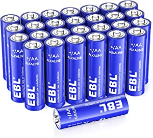 EBL Alkaline AA Batteries (28 Count), 1.5V Double A Long Lasting Alkaline AA Battery (Non-Rechargeable)