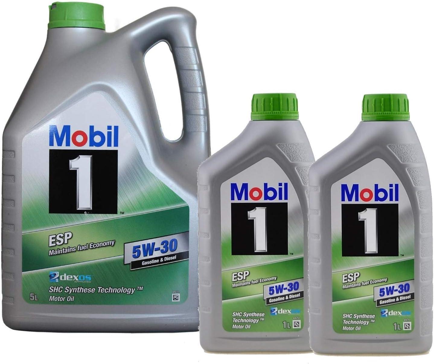 Aceite Lubricante Motor - Mobil 1 ESP 5W-30 dexos 2, 7 Litros (5 ...