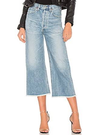 hot-selling clearance 100% high quality huge range of Citizens of Humanity Emma High Rise Wide Leg Crop Jeans in ...