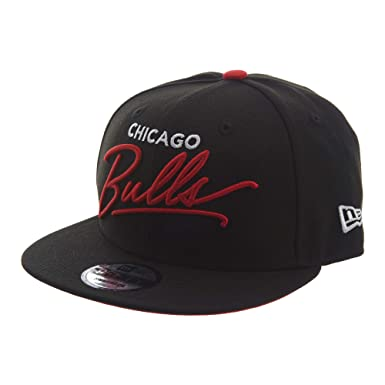 0f9b73e37a3 New Era Chicago Bulls Script Turn Snapback 9FIFTY Adjustable NBA Hat