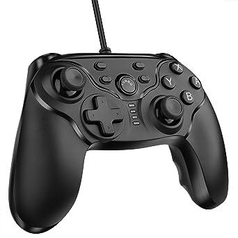 Nintendo Switch Controlador de Gamepad, ELTD Mando Juego Controlador de Gamepad con cable para Nintendo