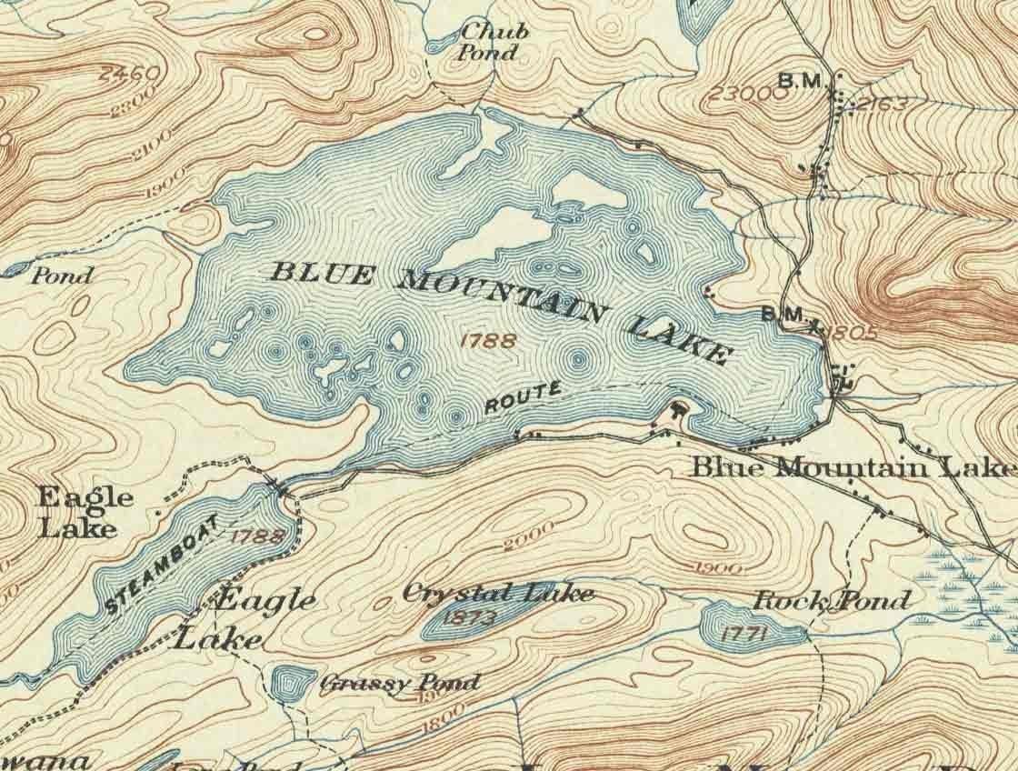blue mountain lake ny map Amazon Com Raquette Lake Blue Mountain Lake 1903 Usgs Old blue mountain lake ny map