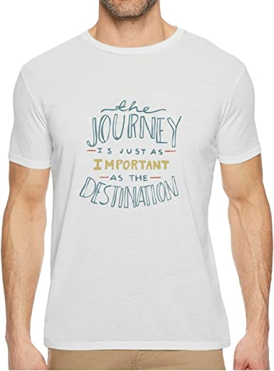 Qqppgg Journey Destination Quotes The Journey Is Just As Important As The Destination Mens Short Sleeve Breathable T-shirts