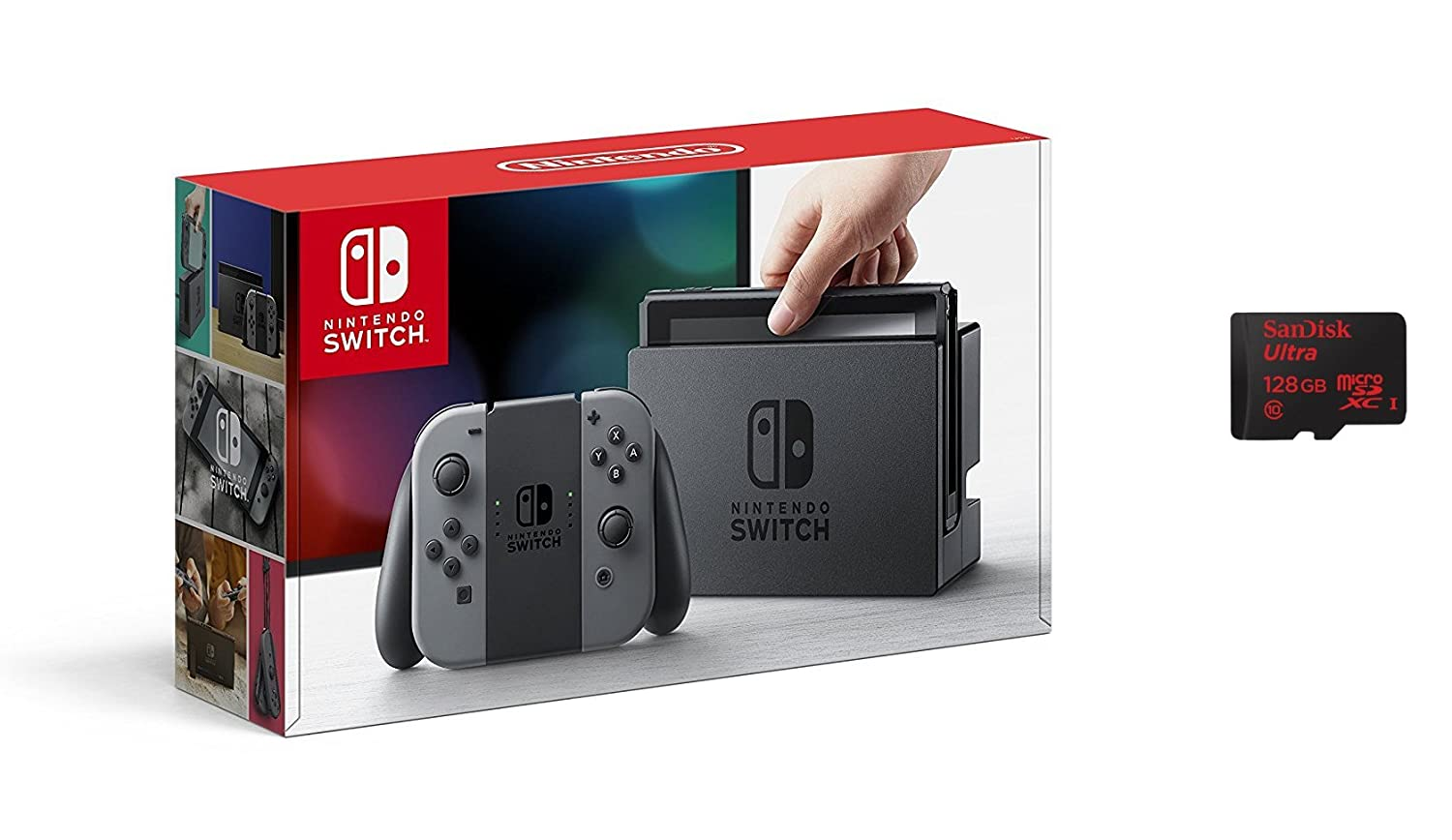 Nintendo Switch - Color Gris + SanDisk microSDXC UHS-I 128 ...