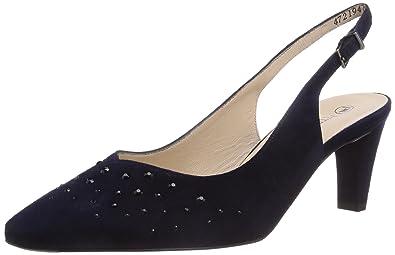 Peter Kaiser Womens Meggy Slingback Court Shoes Blue Size  7.5 ... e1650c0ac0