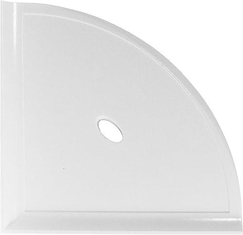 10 inch Corner Bathroom Shelf – Polished Bright White Bathroom Storage Mounted Metro Flatback Wall Mount Organizer