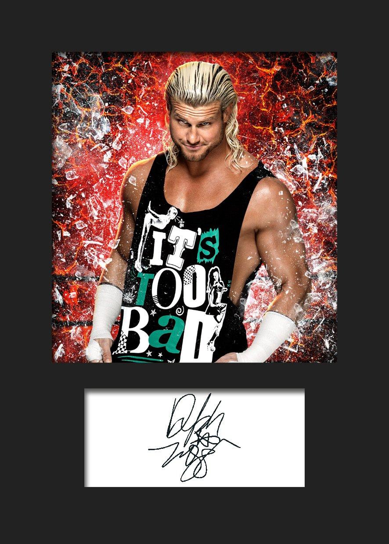 Dolph Ziggler WWE # 1 signiert Foto A5 Print Frame Smart