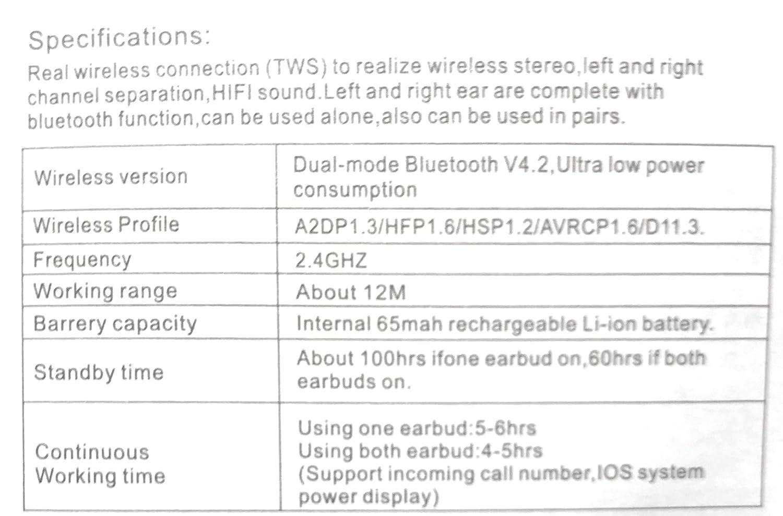 Hbq I7 Tws Twins True Wireless Ear Buds Mini Bluetooth Headset Sports V42 Iphone 7 Plus Oem Black Cell Phones Accessories