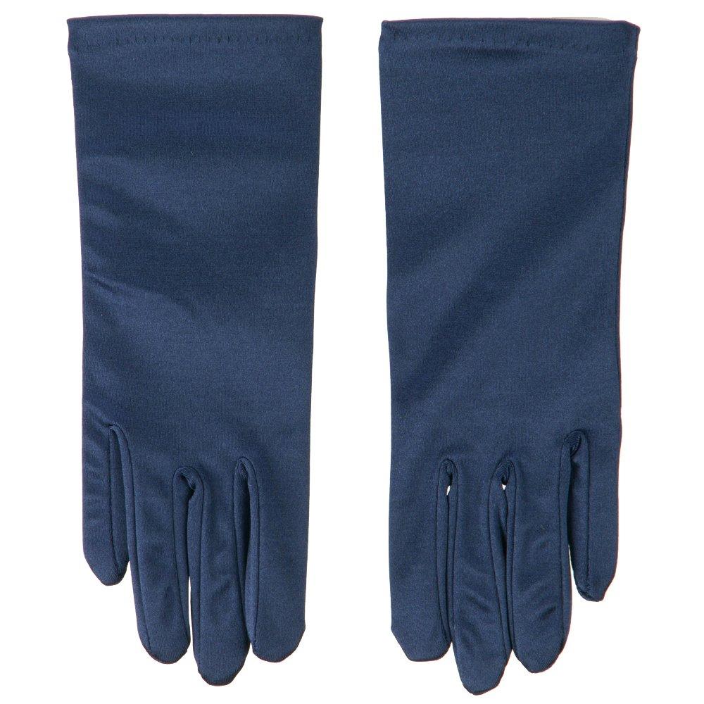 Satin 2BL Glove (One Size, Navy)