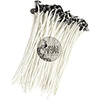 Asian Hobby Crafts Cotton Candle Wicks Thread (3 Inch) Pack of 50