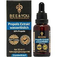 Bee&You Propolis Tropfen Wasserlöslich mit 10% Natürlichem Propolis Extrakt Tropfen (ohne Alkohol-Standardisiert auf 10%-Fairer handel-Keine Zusatzstoffe)