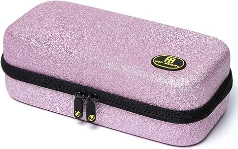 Roo Beauty - Estuche para brochas de maquillaje, diseño de Betty en color rosa con purpurina: Amazon.es: Belleza