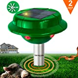 2x VS-312S Solar Powered Snake Repellent Help You Get Rid of Snake Mole Gophers for Outdoor Garden Yard