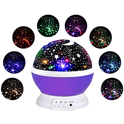 069635de5236 CANDA Star Projection Light Gifts for 3-12 Year Old, Starry Light Lamp  Rotating Moon Star Projector Night Light for Children Gifts for Boys Girls  Age 3-12 ...
