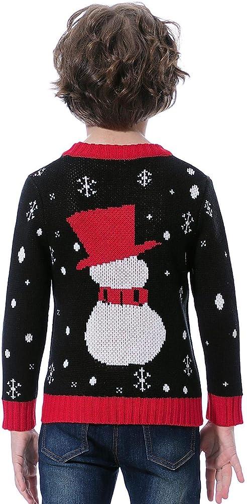Abollria Su/éter de Navidad,Jersey Navide/ño Sudaderas Navide/ñas Familiares Ni/ño Ni/ña Sueter Hombre Mujer Sweaters Estampadas Pullover Cuello Redondo Largas Invierno