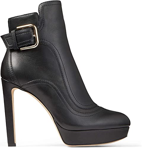 Ladies Block High Heel Chunky Platform Ankle Boots Womens Zip Party Shoes Size