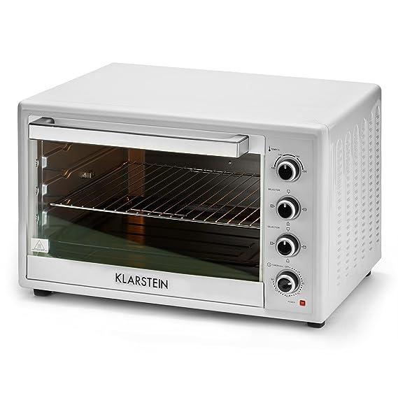 Klarstein Masterchef XL • Horno eléctrico • Pincho giratorio • 100 L • 2700 W • 4 Puntos de calor • 100 - 230° C • Calor superior • Calor inferior • Acero ...