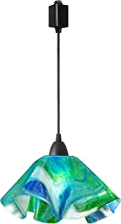 product image for Jezebel Signature Lily Track Lighting Pendant Large. Hardware: Brown. Glass: Fern