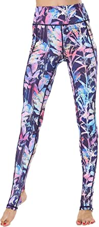 Whitewed Women Print High Waist Fitness Yoga Stirrup Sports Pants Tight Trousers