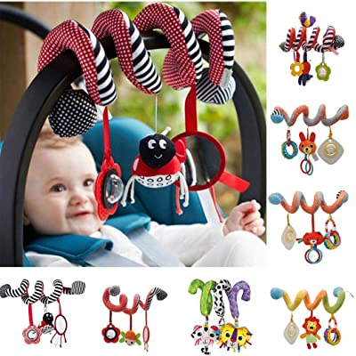 GoodKE Baby Stroller Spiral Hanging Stuffed Toys Cute Rattle Toy Rattles: Home & Kitchen