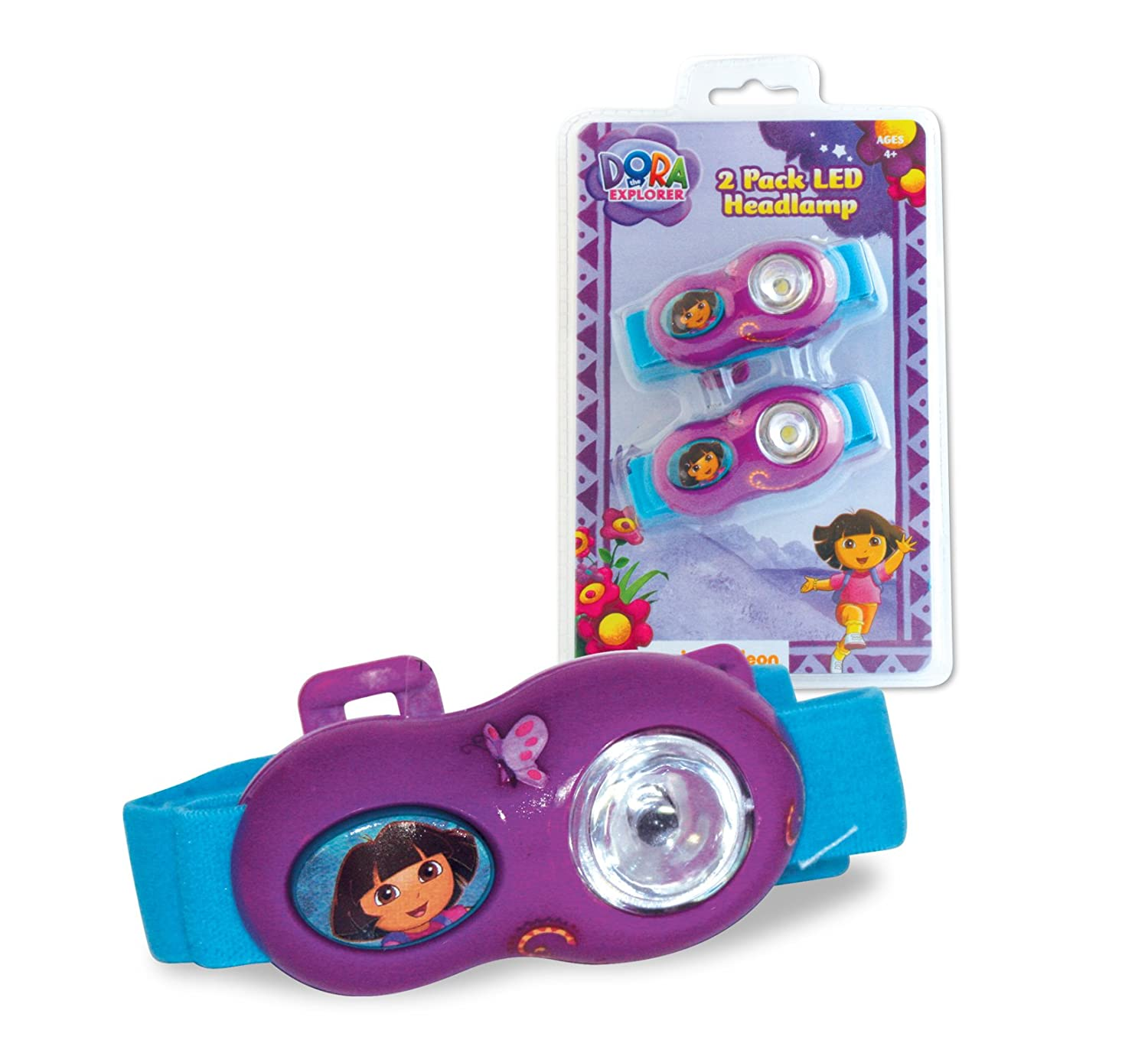Dora The Explorer Led Flashlight Headlamp 2 Pack Toys Exciting Scout Crafts 1 Or Games