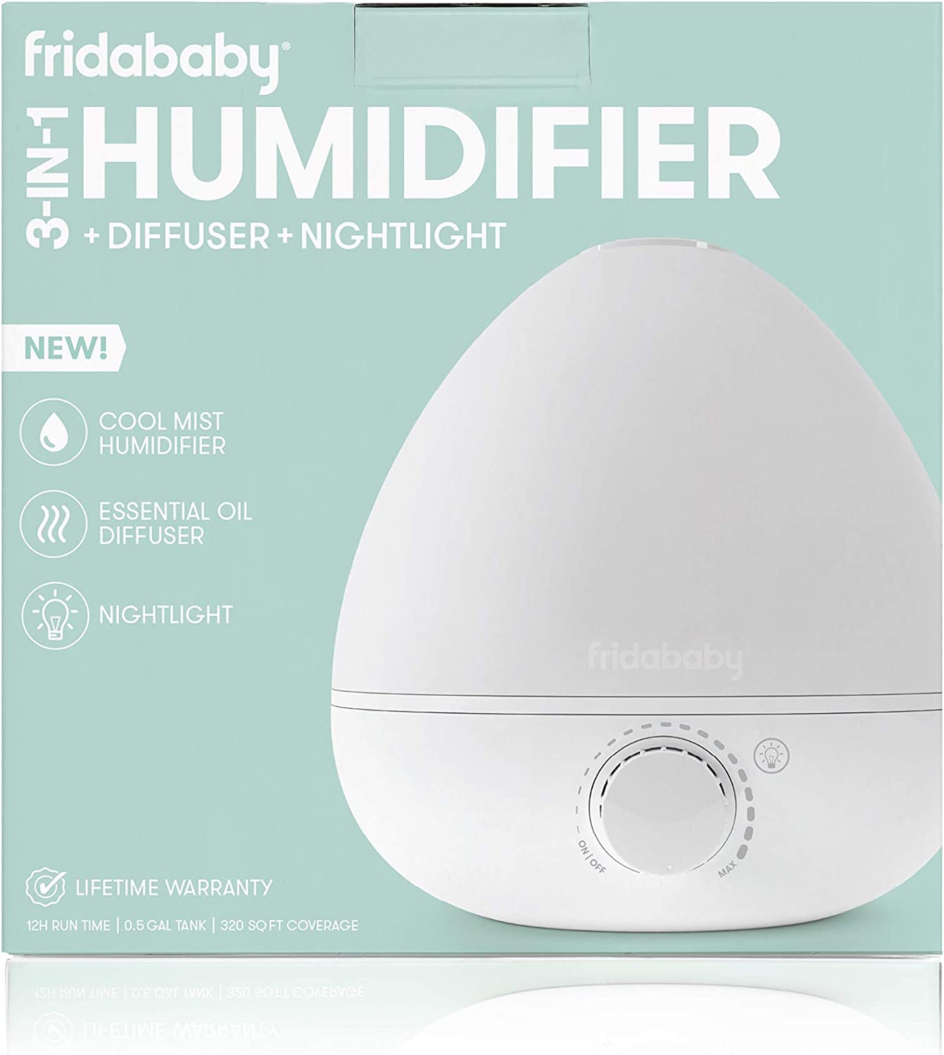 FridaBaby 3 in 1 Humidifier with Diffuser and Nightlight by