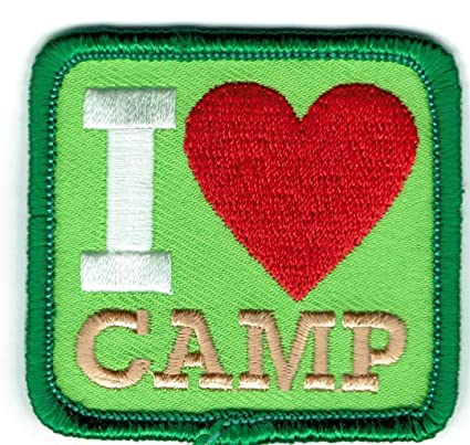 Amazon com: Girl Boy I Love Camp Green Fun Patches Crests Badges