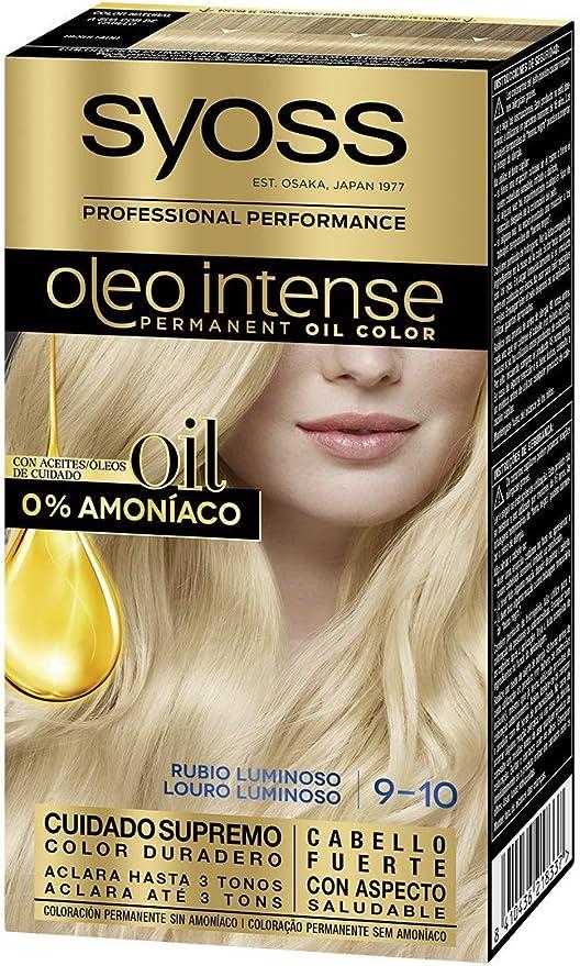 Syoss Oleo Intense - Tono 9-10 Rubio Luminoso – Coloración ...