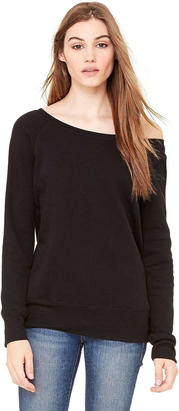 7501 CANVAS BELLA Women's Sponge Fleece Wide Neck Sweatshirt