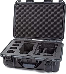 "Nanuk 925 Waterproof Hard Case with Foam Insert for DJI Mavic 2 Pro|Zoom + Smart Controller, Crystalsky 5.5"" or iPad - Graphite"