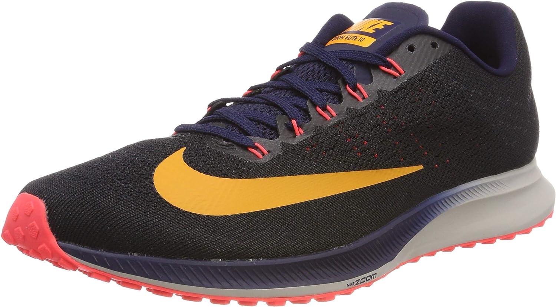 Nike Air Zoom Elite 10, Zapatillas de Running para Hombre, Negro (Black/Orange Peel/Blackened Blue/Flash Crimson/Moon Particle 084), 49.5 EU: Amazon.es: Zapatos y complementos