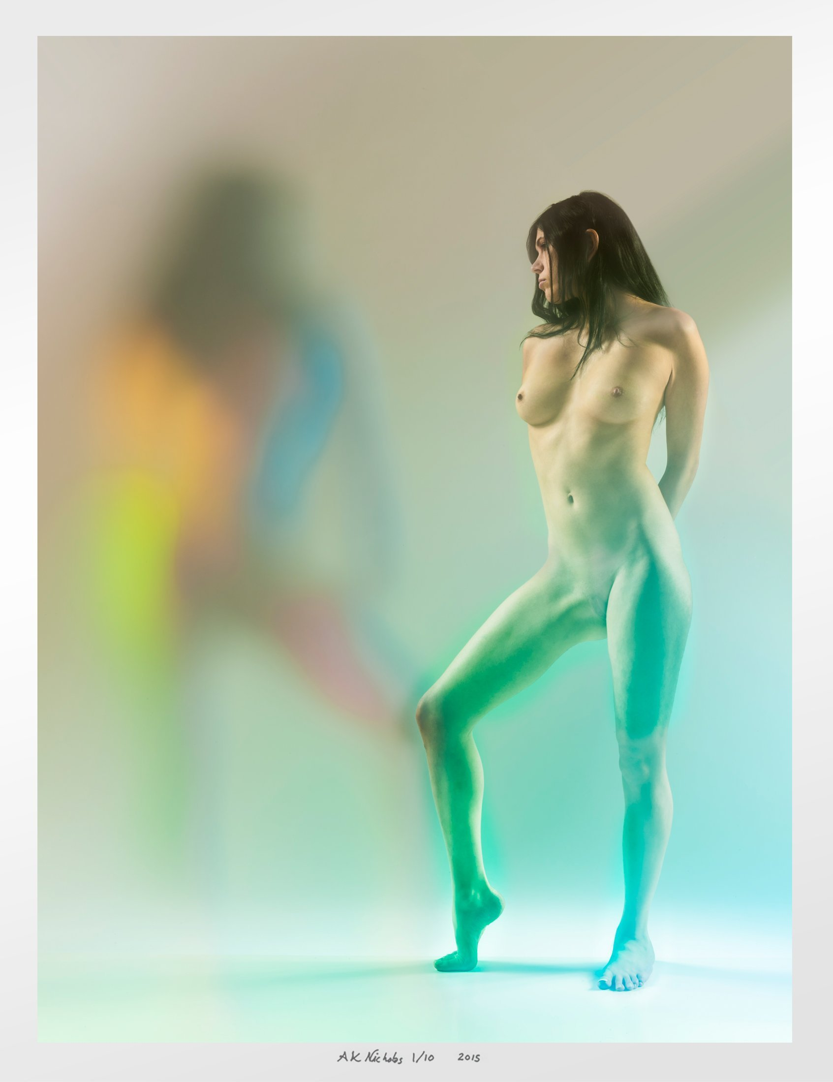 ''Tess, Ghostly'' - limited edition hand signed and numbered artwork - photographic print of nude woman