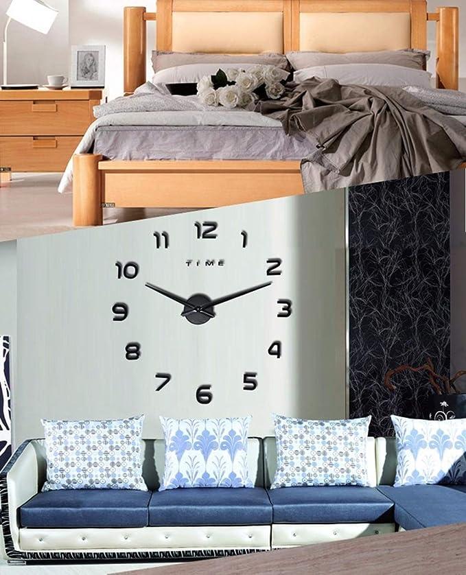 Amazon.com: PHM WCLT Nuevo reloj Reloj de pared Relojes de pared DIY acrílico Espejo decoración para el hogar sala de cuarzo aguja (Color : Black): Home & ...
