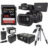 Panasonic HC-X1000 4K 24p Cinema Camcorder w/128GB SD & Pelican Case Bundle