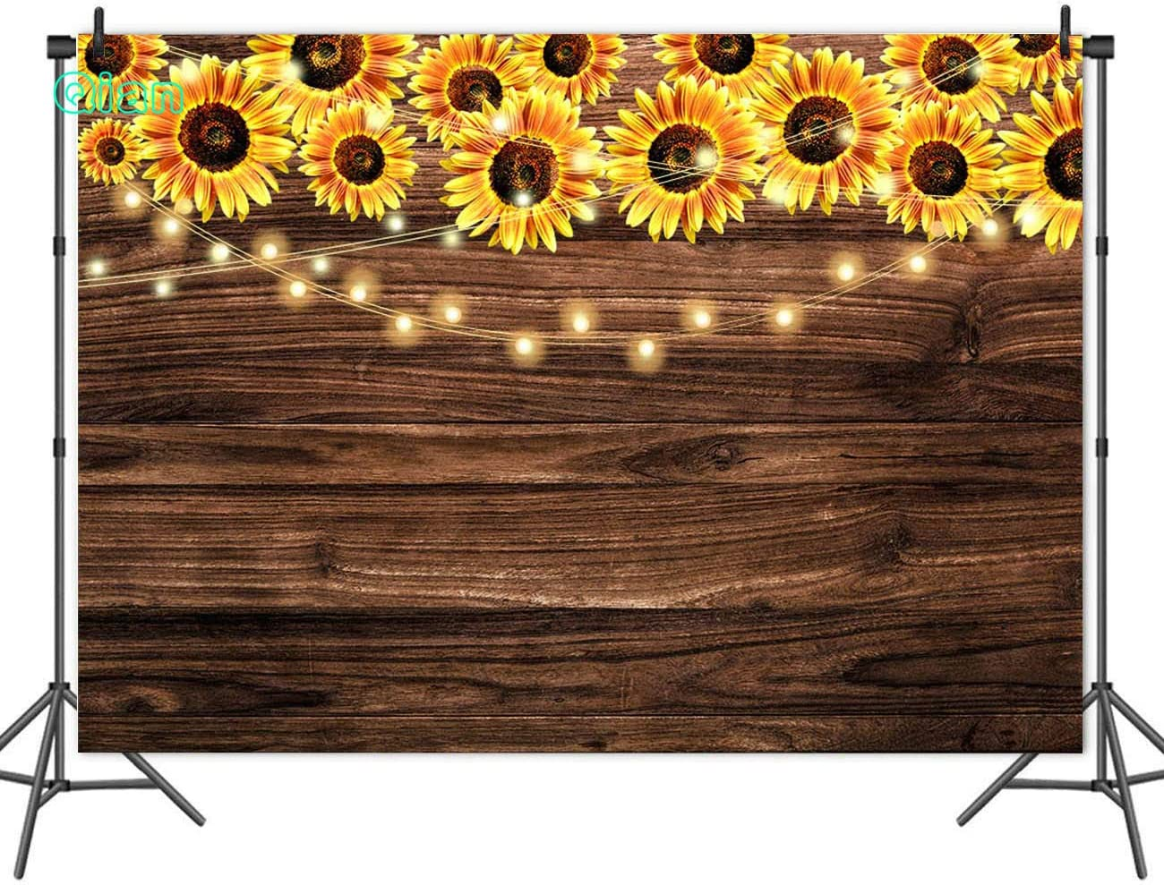 HUAYI 7x5ft Wood Floor with Flowers Interiors Decor Custom Newborns Baby Shower Photography Backdrop Background for Photo Studio Props lw-1081