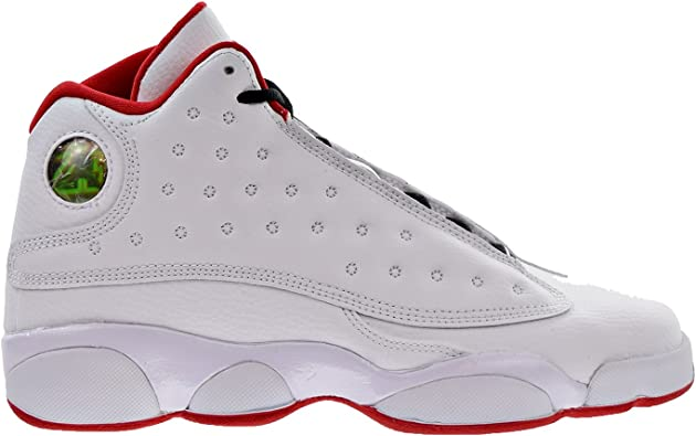 Nike Air Jordan 13 Retro BG Big Kid 's Zapatillas De Baloncesto  Blanco/Metálico Plateado/university rojo, Blanco, 6.5 M US grande niño