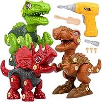 Dinosaurios Juguetes con Taladro Eléctrico, Juego Construccion Puzzle Dinosaurios Incluyen Tiranosaurio Rex…